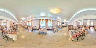 MINSK, WEISSRUSSLAND - 19. JULI 2013: Volle kugelförmige 360 durch 180 Grad nahtlose Panorama in der equirectangular äquidistante lizenzfreie stockbilder