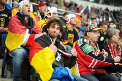 MINSK, WEISSRUSSLAND - 10. MAI 2014: Die Welteis-Hockey-Meisterschaft Lizenzfreies Stockbild