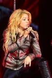 MINSK, WEISSRUSSLAND - 20. MAI: Shakira führt an der Minsk-Arena am 20. Mai 2010 in Minsk, Weißrussland durch Stockfotografie