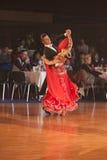 MINSK-WIT-RUSLAND, 15 JANUARI: Het Paar van de dans, Norm Royalty-vrije Stock Afbeeldingen