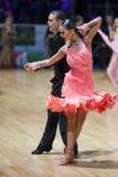 MINSK-WIT-RUSLAND, 19 MEI: Het Paar van de dans Stock Foto's