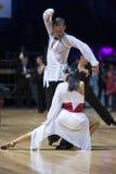 MINSK-WIT-RUSLAND, 19 MEI: Het Paar van de dans voert Latijn uit Royalty-vrije Stock Foto's