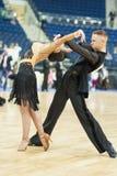MINSK-WIT-RUSLAND, 19 MEI: Het volwassen Paar van de Dans Royalty-vrije Stock Afbeelding