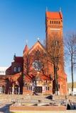 MINSK, WIT-RUSLAND - April 04, 2017: Kerk van Heiligen Simon And Hele royalty-vrije stock foto