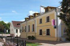 MINSK, WIT-RUSLAND - AUGUSTUS 01, 2013: De oude gebouwen in de Drievuldigheidsheuvel, een andere Voorstad of Trojeckaje Pradmiesc Royalty-vrije Stock Foto's