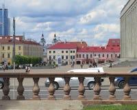 Minsk, Wit-Rusland Centrale Weg - Voorraadfoto's Stock Foto