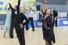 Minsk-Wit-Rusland, 23 Februari: Andrey Yaroshevich - Svetlana Kov Royalty-vrije Stock Foto