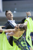 Minsk-Wit-Rusland, 23 Februari: Het niet geïdentificeerde Danspaar presteert Stock Foto