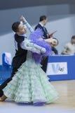 Minsk-Wit-Rusland, 23 Februari: Het niet geïdentificeerde Danspaar presteert Royalty-vrije Stock Foto's