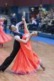 Minsk-Wit-Rusland, 23 Februari: Het niet geïdentificeerde Danspaar presteert Stock Afbeelding