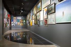 Minsk, Wit-Rusland - Februari 02, 2017: ` Huis van schilderijen` blootgestelde schilderijen Royalty-vrije Stock Foto's