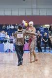 "Minsk-Wit-Rusland, 23 Februari: Igor Sivov †""Elena Sobol Perform S Royalty-vrije Stock Afbeelding"