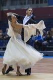 Minsk-Wit-Rusland, 23 Februari: Igor Zimnitskiy- Karina Soiko Perfo Royalty-vrije Stock Foto's