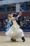 Minsk-Wit-Rusland, 23 Februari: Igor Zimnitskiy- Karina Soiko Perfo Royalty-vrije Stock Afbeeldingen