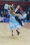 Minsk-Wit-Rusland, 23 Februari: Iliya rykun-Valriya Lobach Perf Stock Foto's