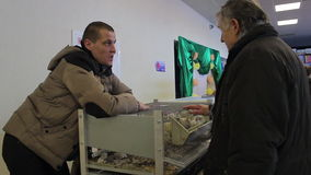Minsk, Wit-Rusland, 7 Februari, 2016, landbouwbedrijftentoonstelling stock videobeelden