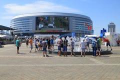 Minsk Wit-Rusland: Het Kampioenschap van de ijshockey 2014 Wereld Stock Foto
