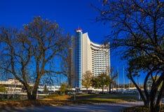 Minsk, Wit-Rusland, hotel stock foto