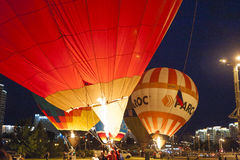 Minsk-Wit-Rusland, 19 Juli, 2015: Internationale lucht-Ballons tijdens Stock Afbeelding