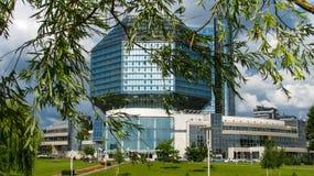 MINSK, WIT-RUSLAND - Juli 10, 2018: Nationale Bibliotheek van Wit-Rusland stock fotografie