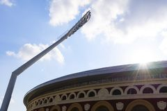 Minsk, Wit-Rusland, 9 Juni, 2019 2 Europese Spelen Één van de stadions waar de Europese Spelen zullen worden gehouden stock afbeelding