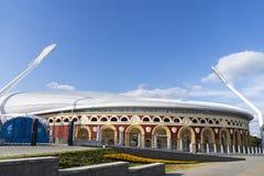 Minsk, Wit-Rusland, 9 Juni, 2019 2 Europese Spelen Één van de stadions waar de Europese Spelen zullen worden gehouden royalty-vrije stock foto