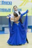 Minsk-Wit-Rusland, 16 Maart: Yuriy Puchkov – Tatiana Puchkova per Stock Foto's