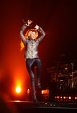 MINSK, WIT-RUSLAND - MEI 20: Shakira presteert bij Minsk-Arena op 20 Mei, 2010 in Minsk, Wit-Rusland Royalty-vrije Stock Afbeeldingen