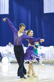 Minsk-Wit-Rusland, 4,2014 Oktober: Niet geïdentificeerde Professionele dans c Royalty-vrije Stock Foto