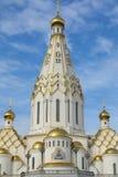 MINSK, WIT-RUSLAND - SEPTEMBER 12, 2018: Al Heiligenkerk in Minsk, stock foto
