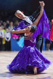 Minsk, 14 Witrussisch-Februari, 2015: Professioneel Danspaar van A Stock Foto's