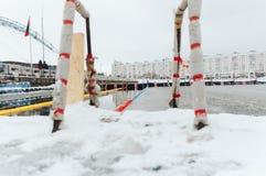 Minsk Witrussisch 21 Januari, 2018 Stock Foto's