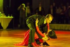 "Minsk, Witrussische †""26 September, 2015: Artem Kazyra en Anastasi Royalty-vrije Stock Afbeelding"