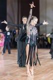 Minsk, wrzesień 27, 2015: Danila Shmidt i Alina Gumen Zdjęcia Royalty Free