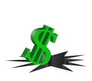 minska dollaren Arkivfoto