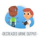 Minskat begrepp för urinefterbehandlingsläkarundersökning också vektor för coreldrawillustration Fotografering för Bildbyråer