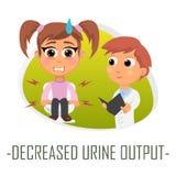 Minskat begrepp för urinefterbehandlingsläkarundersökning också vektor för coreldrawillustration Royaltyfria Bilder