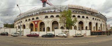 Minsken Vitryssland Dynamostadion panorama royaltyfri foto