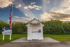 Minst stolpe - kontor i Förenta staterna, Ochopee, Florida Royaltyfria Bilder