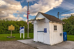 Minst stolpe - kontor i Förenta staterna, Ochopee, Florida Royaltyfri Fotografi