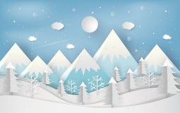 Minsta begrepp för nytt år av vintersäsongen och den härliga christmaen vektor illustrationer