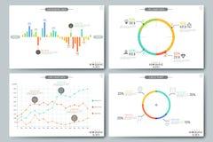 Minsta infographic broschyrmall Sidor med diagram-, graf- och diagrambeståndsdelar vektor illustrationer