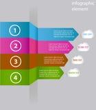 Minsta infographics arrowheaden också vektor för coreldrawillustration Royaltyfri Bild