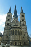 Minster. One of the oldest churches in Germany, emblem of the City of Bonn stock photography