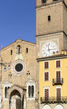 Minster and building on market square, Lodi, Italy Stock Photo