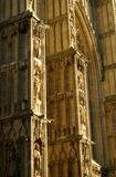 Minster buttresses. Carved buttresses in an English medieval  church Stock Photo
