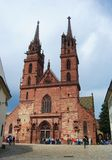 Minster Cathedral in Basel. Stock Images