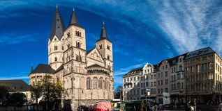 Minster (church) and other old buildings Royalty Free Stock Image