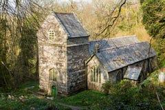 Minster church in Valency woods near Boscastle Stock Photography