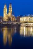 Minsteren i Zurich royaltyfri foto